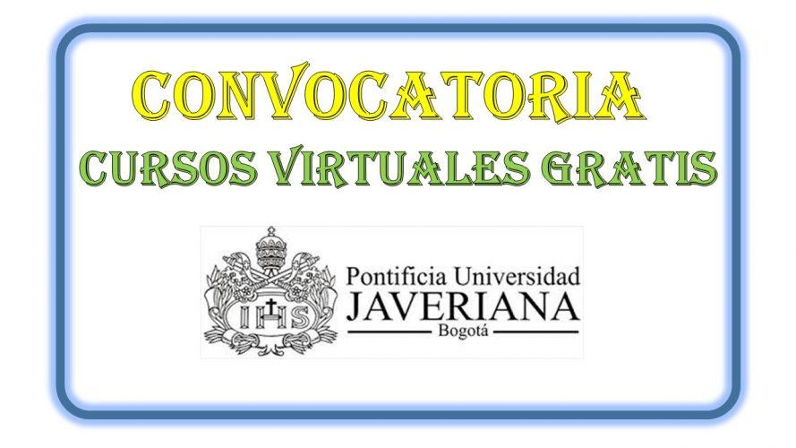 CURSOS GRATIS VIRTUALES POR UNIVERSIDAD JAVERIANA