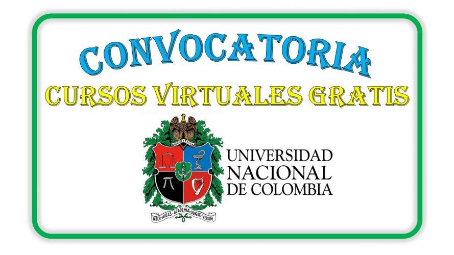 CURSOS GRATIS OFERTADOS POR LA UNIVERSIDAD NACIONAL